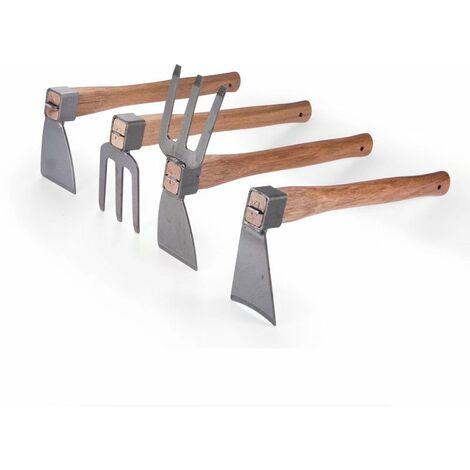 Perle rare 4 pièces houe à manche en bois, agriculteur, désherbage, râteau, bêche, outil agricole, légume, fleur, outil de jardinage