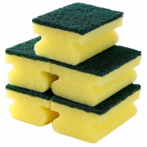 Perle rare 5 paquets de lingette éponge double face épaissie en forme de I E077 décontamination de la cuisine nettoyage brosse éponge vaisselle