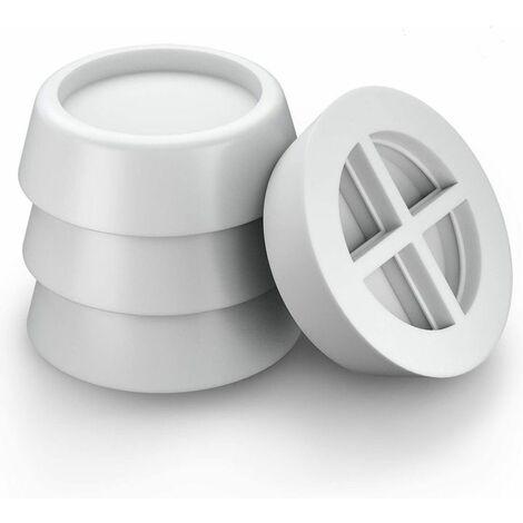 Perle rare Amortisseur pour machine à laver, coussin en caoutchouc antichoc universel pour machine à laver et sèche-linge - blanc