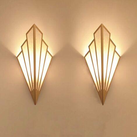 Perle rare Applique murale à LED couloir couloir lampe d'escalier de style européen chambre hôtel chevet applique murale créative intérieure en forme d'éventail lampe suspendue