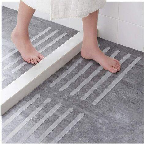 Perle rare Baignoire de salle de bain autocollants antidérapants transparents pied multifonctionnel tapis antidérapant marches d'escalier colle antidérapante 15