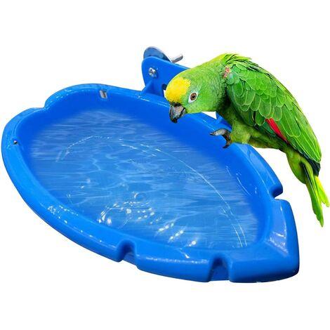 Perle rare bains de perroquet cages de perroquet bains oiseaux suspendus accessoires de bain mangeoires automatiques accessoires de cage à oiseaux