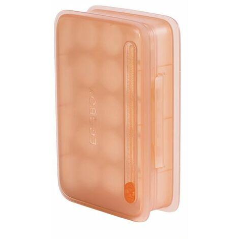 Perle rare Boîte à œufs Boîte de rangement Compartiment de cuisine avec couvercle Boîte à œufs Casier à œufs Casier à œufs Réfrigérateur Boîte de rangement à œufs (couleur chair claire)