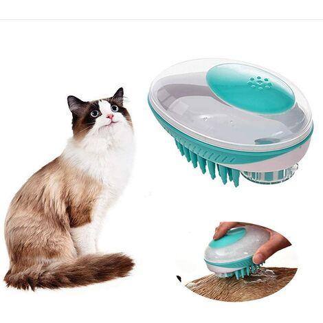 Perle rare Brosse de bain pour animaux de compagnie Brosse de massage moyenne et petite pour chats et chiens Brosse de bain générale verte