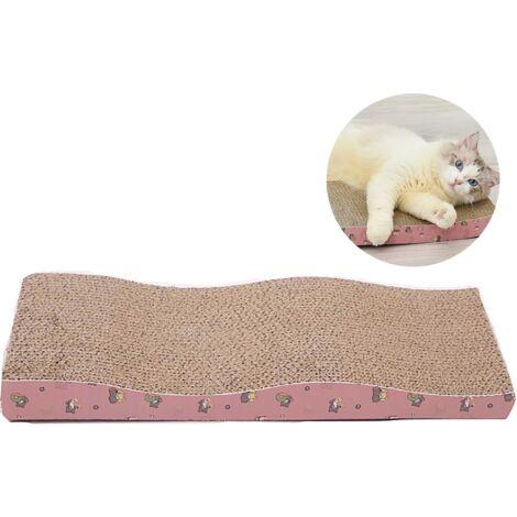 Perle rare Carton chat planche à gratter canapé-lit broyeur de carton ondulé carton grand papier ondulé