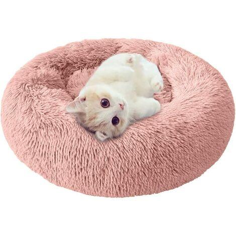 Perle rare Chenil pour chien Litière pour chat amovible et lavable Automne et hiver Tapis pour chien Tapis de chat Litière pour animaux de compagnie Rose 60cm