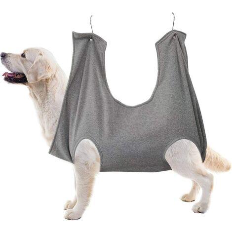 Perle rare chien poitrine fronde hamac aide chien coupe ongles harnais kit toilettage pour animaux de compagnie maillots de bain gris grand