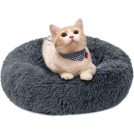 Perle rare Dog House Cat House Amovible et lavable Automne / Hiver Tapis de chien Tapis de chat Pet House Gris 60cm
