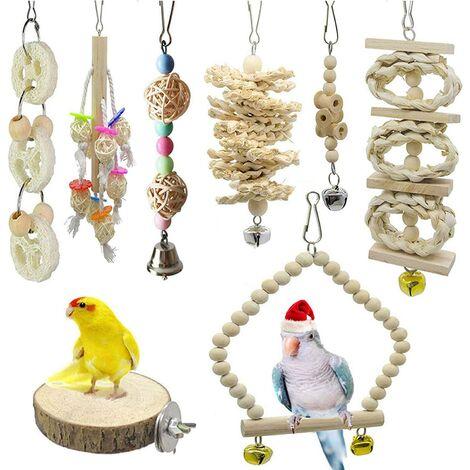 Perle rare Ensemble de jouets perroquet, jouet à mâcher perroquet jouet perroquet