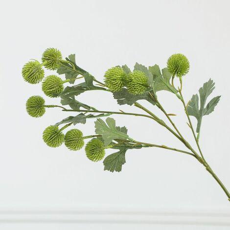Perle rare Fruit artificiel petit hortensia simple boule de cône de pin décoration de la maison fleurs artificielles plantes vertes (vert clair * 4