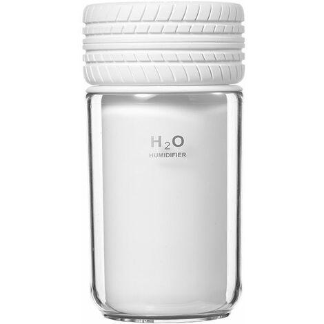 Perle rare Humidificateur de voiture, humidificateur de grande capacité, humidificateur à supplément d'air, humidificateur USB portable, humidificateur de veilleuse, blanc