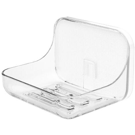 Perle rare La salle de bain de la boîte à savon est exempte de perforation, porte-savon drainable mural, porte-savon en pâte créative
