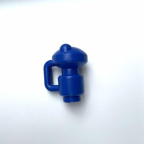 Perle rare Lot de 10 embouts de protection pour barres de filet de trampoline, Ø 25 mm, bleu