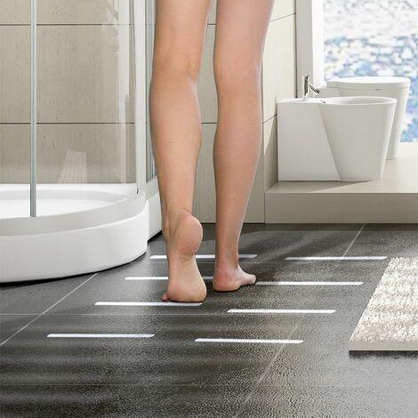 Perle rare Luana Rose Anti-Rutsch Streifen für Badewanne & Dusche - Transparent & Selbstklebend - Premium Anti rutsch Badewannen Aufkleber Set - Dusch Sticker für 100% Rutsch-Schutz für Ihr Bad & Treppenstufen
