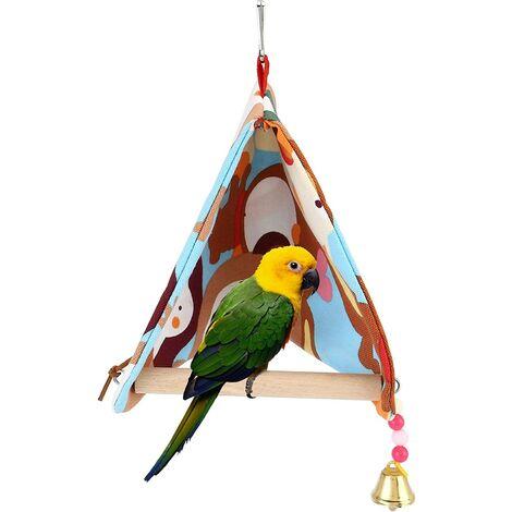 Perle rare maison oiseau perroquet chaise longue perroquet calopsitte triangle hamac tente cage à oiseaux perche grande