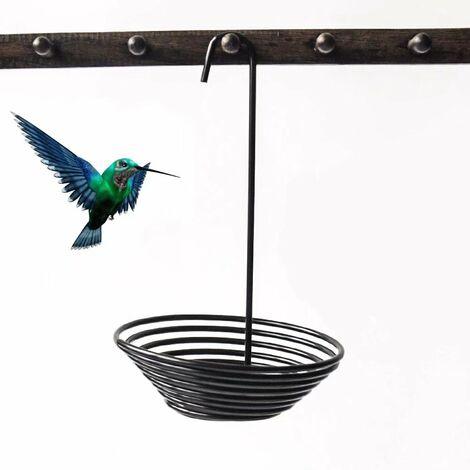 Perle rare Mangeoire à oiseaux, mangeoire à oiseaux en métal, traitement antirouille par électrophorèse de surface, alimentation simple et alimentation suspendue