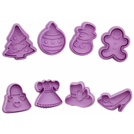 Perle rare Moule à biscuits en plastique de dessin animé 3D en trois dimensions, type de presse pour la Saint-Valentin et l'ensemble de moules à biscuits de Pâques (ensemble de Noël + ensemble de déesse