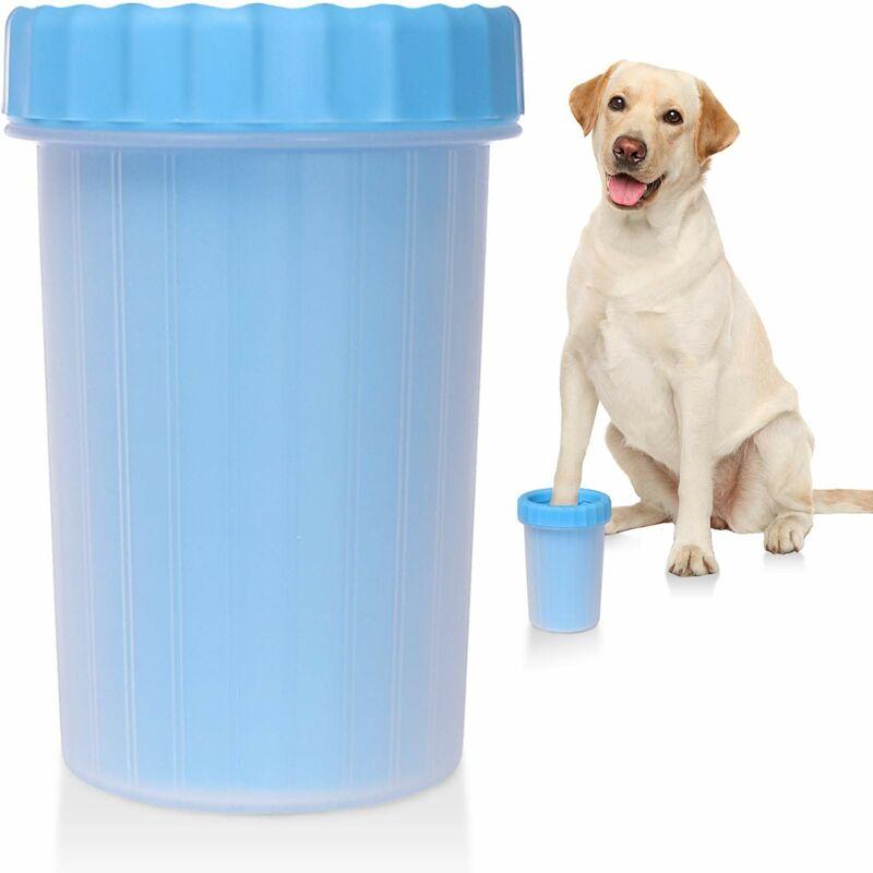 Perle rare nettoyant pour pattes de chien tasse de nettoyage pour pattes de chien 2 en 1 brosse de nettoyage portable en silicone pour animaux de