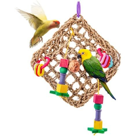 Perle rare Oiseau Jouet Perroquet Jouet Escalade Filet Oiseau Cage Oiseau Jouet Perroquet Rongeur Oiseau Fournitures