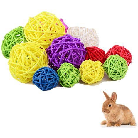 Perle rare Perroquet ronger jouet à mâcher jouet pour animaux de compagnie jouet balle naturel Sepak Takraw couleur originale Sepak Takraw