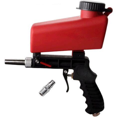 Perle rare Pistolet de sablage pneumatique, petit sablage à main, petite machine de sablage pneumatique à gravité portable
