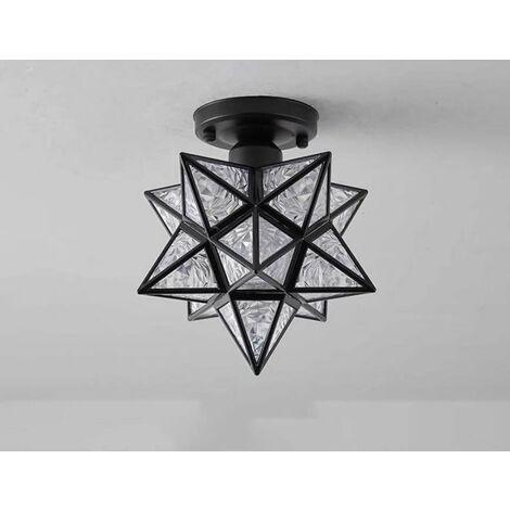 Perle rare plafonnier led, maison jardin entrée balcon étude lampe couloir café bar lampe de table, noir-