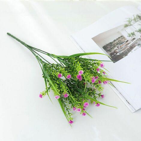 Perle rare Plantes vertes artificielles, bouquets de roses, fleurs artificielles en plastique, jardinières d'extérieur, plantes décoratives, plantes vertes artificielles, fleurs roses (rose rouge (4 pièces)