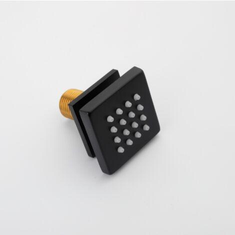 Perle rare Pomme de douche, sous-carré noir