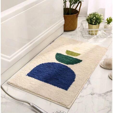 Perle Rare Rutschfeste absorbierende Fußmatten für Badezimmer- und Beige-WC 40x60cm