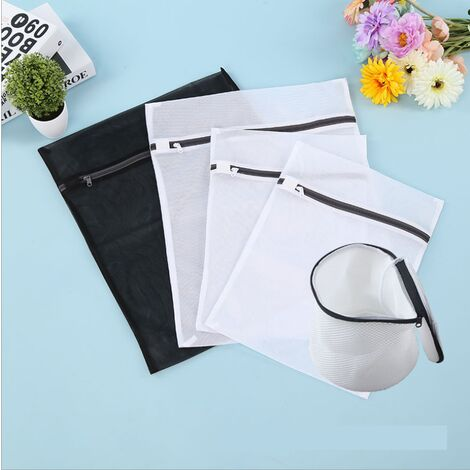Perle rare Sac à linge, filet à linge, sac à linge en maille, sac de machine à laver, sac à linge en maille à lessive en quatre pièces + soutien-gorge sandwich