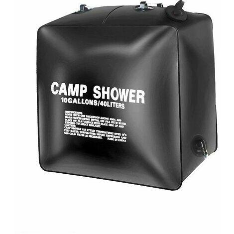 Perle rare Sac de douche 40L Sac à eau de bain solaire extérieur Bain de camping lavage