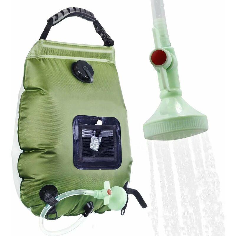 Sac de douche de collecte d'énergie solaire Sac de douche portable Sac de douche de camping 20L Sac d'eau de bain-- - Perle Rare