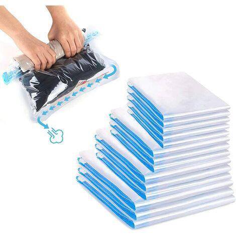 Perle rare Sac de rangement, mon sac de voyage, mon sac de rangement sous vide, mon sac de rangement sous vide a une variété de tailles, peut être roulé vers l'avant, pas d'aspirateur, 14pcs
