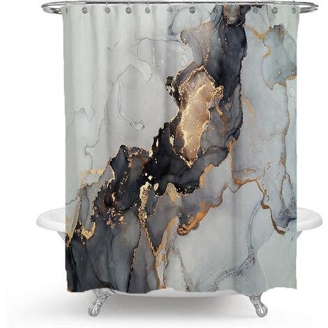 Perle rare salle de bain mercure étanche douche rideau rideau rideau rideau rideau de douche marbrure 150x180cm