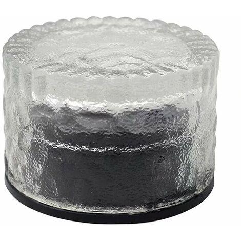 Perle rare Solaire rond en brique de glace en verre de carreaux de sol lumière cour extérieure enterrée lumière solaire lumière de jardin coloré