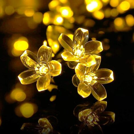 Perle Rare Solar Fairy Lights Christmas Lights Outdoor 7m 50 Lights Warm White