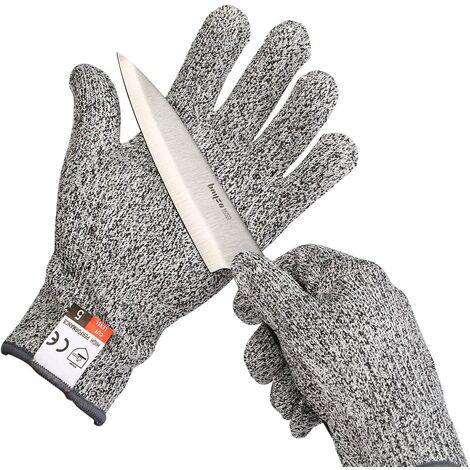 Perle rare Une paire de gants résistants aux coupures de grade 5, des gants de jardinage, des gants de travail, des gants de protection S --- 20cm