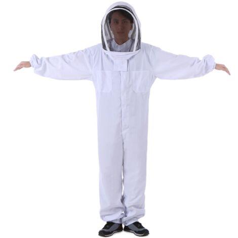 Perle rare Vêtements apicoles (L) Outils apicoles Vêtements pour abeilles Vêtements anti-abeilles épaissis en coton Vêtements de protection une pièce Vêtements pour abeilles