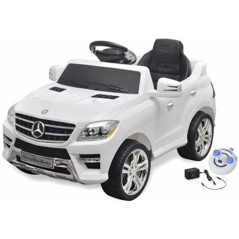 Perle rare Voiture électrique pour enfants Mercedes Benz ML350 Blanc 6 V