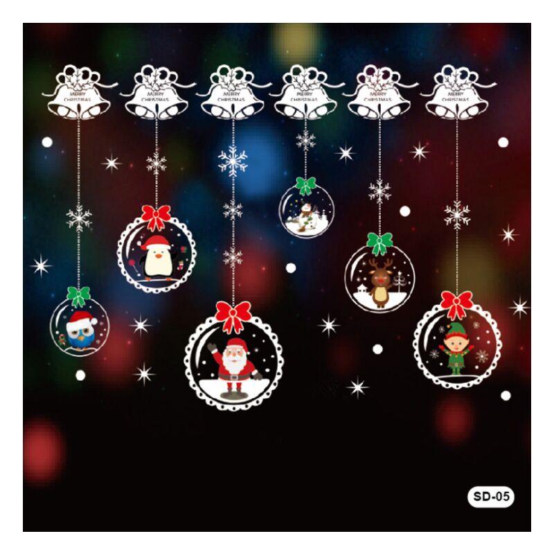 Weihnachtsaufkleber Aufkleber Dekoration Weihnachtsfenster Aufkleber Dekoration DIY Dekoration Aufkleber (SD-5 - Perle Rare