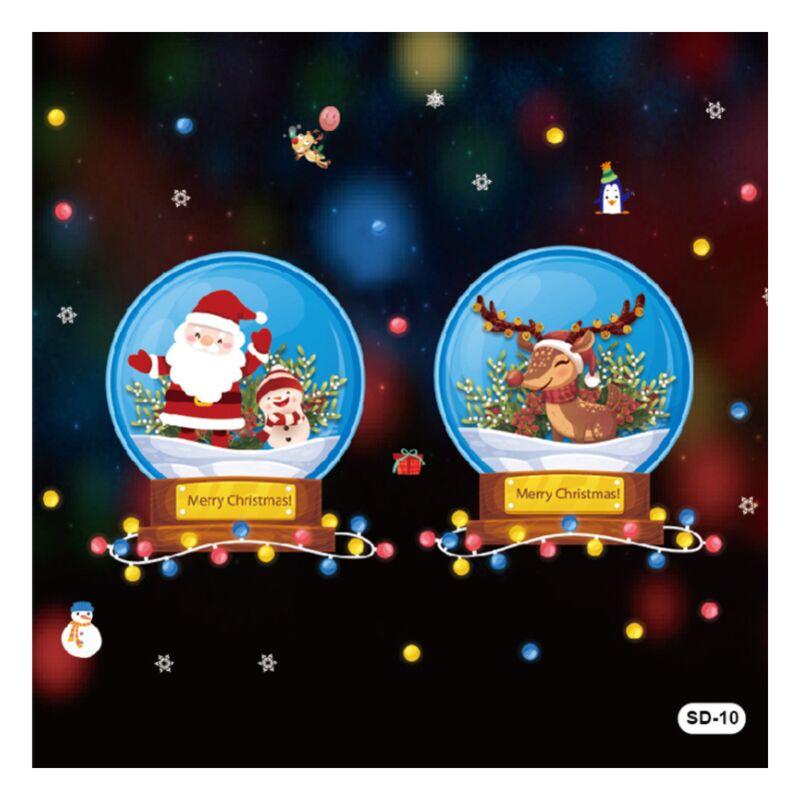 Weihnachtsaufkleber Dekoration Dekoration Weihnachtsfenster Aufkleber DIY Dekoration Aufkleber (SD-10 - Perle Rare