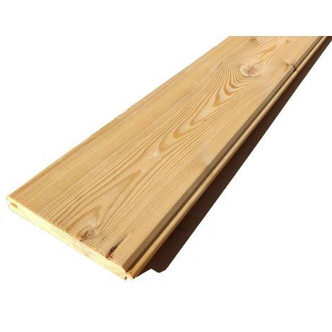 Perlina in larice siberiano doghe legno spessore cm 2 x 14 x 240 qualità rustik