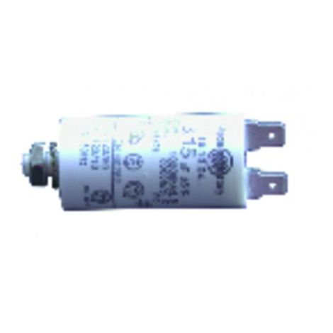 Permanent standard capacitor - 18 µF (Ø40 xLg97 xoverall 120 )
