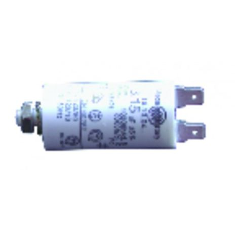 Permanent standard condensator - 4 µF ( Ø30 xLg60 x overall 84 )