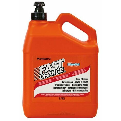 PERMATEX FAST ORANGE - Savon microbilles 3,785 L