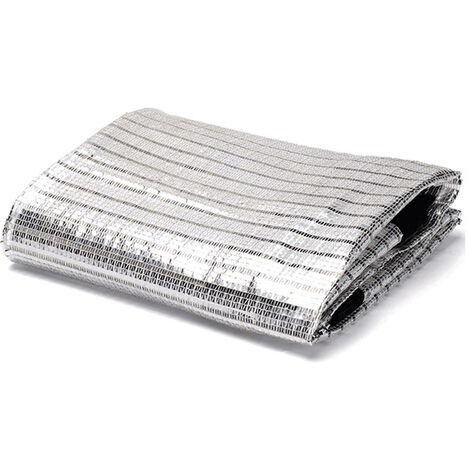 Permeable UV Block Fabric Sun Protective Fillet Durable Fillet of Reflective Aluminum Paper 75% Shade Rate Roof Gardening Balcony (2x2m)