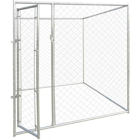 Perrera jaula de exterior 2x2x2 m