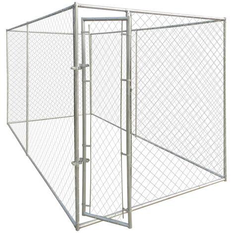 Perrera jaula de exterior 4x2x2 m
