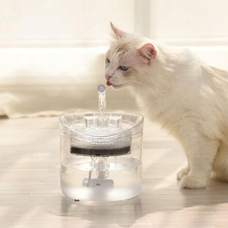 Fuente y dispensador de agua para gatos