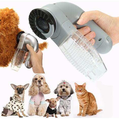 Perro Gato Mascota Aseo eléctrico para el cabello Aspirador Eliminador de piel Eliminador de pelo Recortador Cepillo Peine
